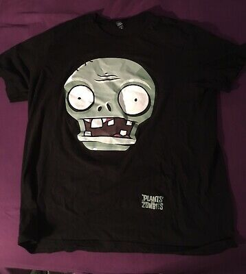 Plants VS Zombies Twiddydinkies Black Short Sleeve T-Shirt Adult Size XL