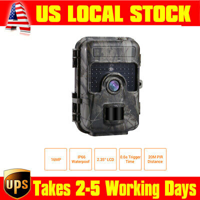 1080P 16MP HD Trail Camera Home Farm Scouting LED IP66 Waterpoof No Spy Hidden