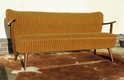 Original Vintage Mid Century East German Cocktail Sofa C1965 Jan19-10