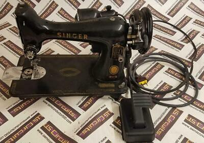 Vintage Singer Sewing Machine Cat. No. Rf5-8 With Some Accessories