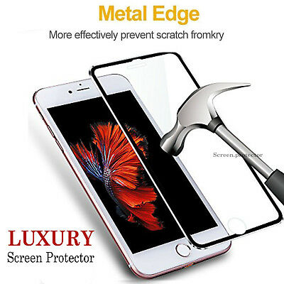 Tempered Glass Screen Protector For Apple iPhone 6S & 6 - 100% Genuine Metal