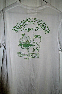 beab2cc5b Vintage Downtown Burger Co. Brooklyn NY 11201 sz L T-Bar Cotton On white