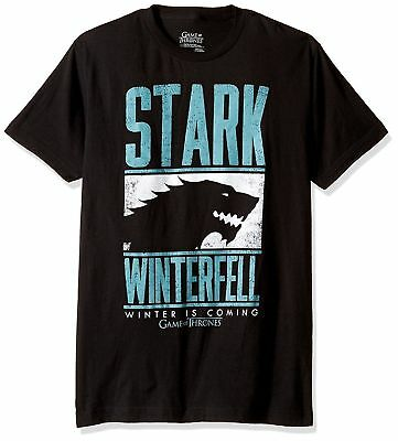 Game Of Thrones STARK WINTER IS COMING WINTERFELL T-Shirt Black NWT Official