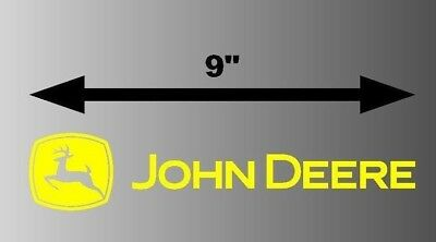 "9"" John Deere Logo yellow Tractor Decal Window Bumper Vinyl Sticker Lawnmower"