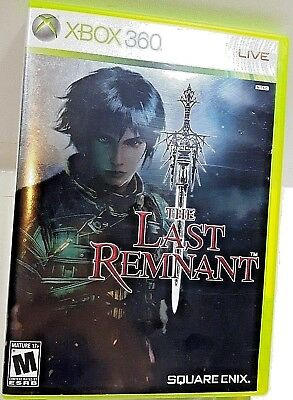 THE LAST REMNANT Microsoft Xbox 360 SQUARE 2-DISC RPG VIDEO GAME CASE NO MANUAL