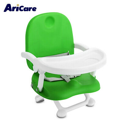 Baby Kids Booster Seat High Chair Foldable Detachable Tray Adjustable Height
