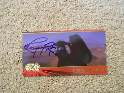 STAR WARS RAY PARK AUTOGRAPH CARD DARTH MAUL on WidevisionTrading Card