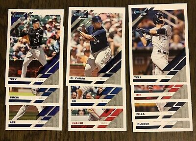 2019 Donruss Nicknames Lot Of 10 Soto Bryant Albies Yelich Kluber