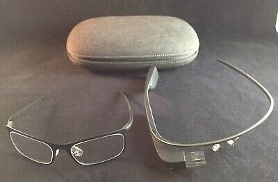 Google Glass Explorer Edition Black/Charcoal with Rimmed Glasses & Case