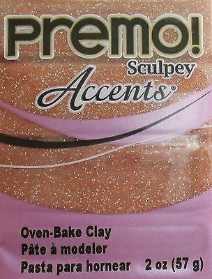 Sculpey PREMO ACCENTS - Polymer Clay - 57g - ROSE GOLD GLITTER
