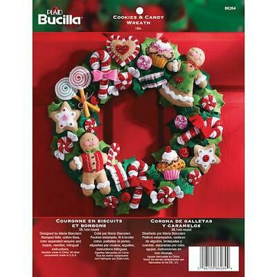 "Bucilla 15"" Felt Christmas Wreath Kit - Cookies & Candy"