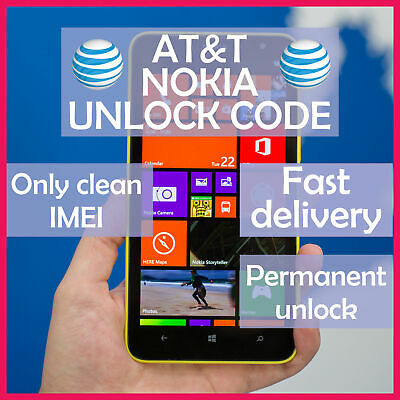 Factory Unlock Service At&T Code Nokia For Lumia 520 521 635 820 830 900 920