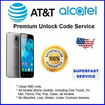 Factory Unlock Service At&T Code Alcatel For One Touch 5V Idol All Models