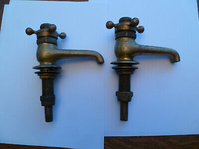 Antique Victorian Ornate Brass Faucets