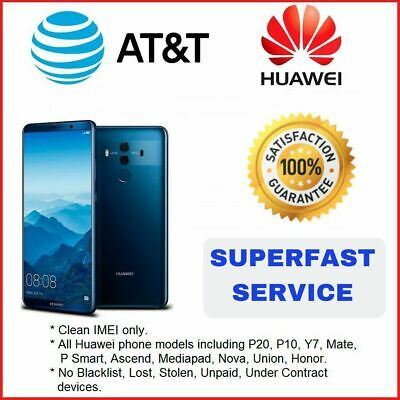 Premium Speed Factory Unlock Service At&T Code Huawei For All Models
