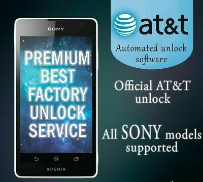Factory Unlock Service At&T Code Sony For Xperia Ion Z5 Z4 Z3 Z2 Z1 All Models