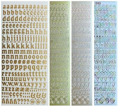 ALPHABET - LOWERCASE Peel Off Stickers 10mm Letters Card Making Scrapbooking