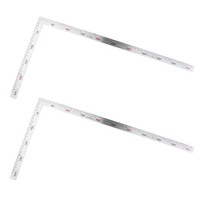 2 x Square Stainless Steel Measuring Ruler Precision Engineer Carpenter Tool