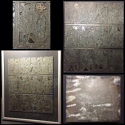 Historic Museum Quality Antique Playing Cards Courts Original Printing Plate