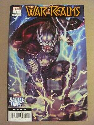 War of the Realms #1 Marvel 2019 Series Battle Lines Variant 9.6 Near Mint+