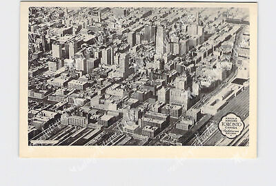 Rppc Real Photo Postcard Canada Ontario Toronto Downtown Birds Eye View