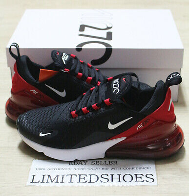 Nike Air Max 270 Black White University Red Anthracite Ah8050-022 Mens