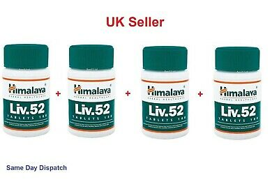 4 x Himalaya Herbal LIV52 LIV 52 LIV.52 Liver Care Digestion Detoxifier Tablets
