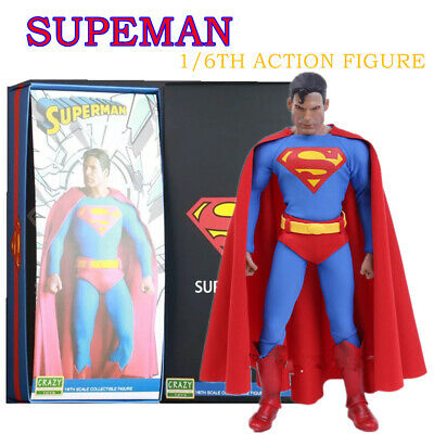 "CRAZY TOY 1/6TH CLASSIC SUPER MAN ACTION FIGURE COLLECTION 12"" PVC NEW Play Gift"