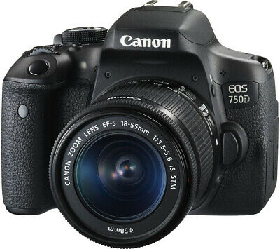 NEW Canon EOS 750D Camera with 18-55 IS STM Lens UK NEXT DAY DELIVERY