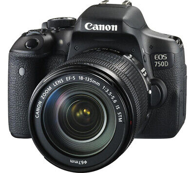 NEW Canon EOS 750D Camera with 18-135 IS STM Lens UK NEXT DAY DELIVERY