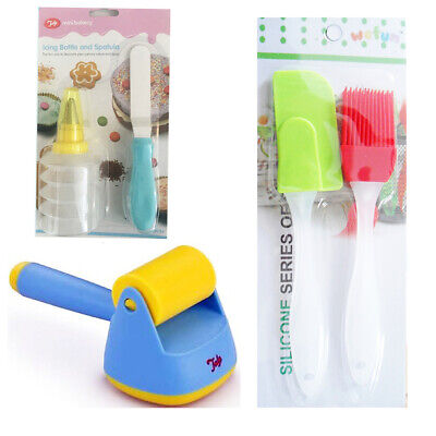 Icing Bottle Spatula Pastry Brush Basher Cupcake Glazing Tool Icing Muffin Cream