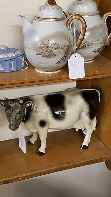 Grey And White vintage Cow Farm Animal Countryside Ornament Collecters Pieces...