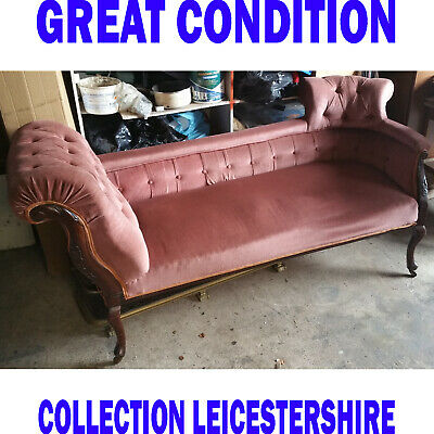 Pink Velvet Chaise Lounge Sofa Accent Chair Elegant Lounger Bedroom Style Suite