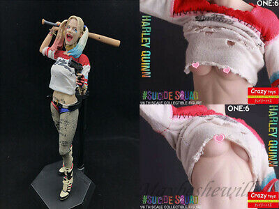 """Crazy Toys DC Suicide Squad Harley Quinn real clothes 12"""" PVC Figure Statue gift"""