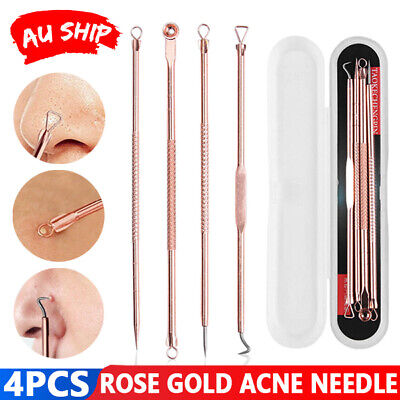 Blackhead Pimple Remover Tool Popper Extractor Black Head Tools Set Stainless