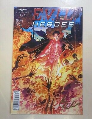 EVIL HEROES - COMIC #4 Of 6 SIGNED BY IAN RICHARDSON COVER ARTISTS