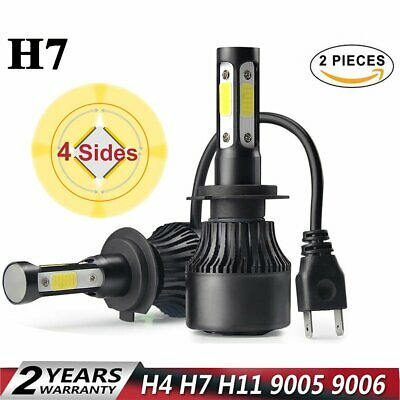 4-side H7 400W LED Phare de Voiture Ampoule Headlight 6000K Xénon HID Blanc Beam