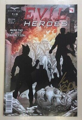 EVIL HEROES - COMIC #1 Of 6 SIGNED BY IAN RICHARDSON COVER ARTISTS