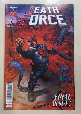 Death Force - Comic #6 Of 6 Signed By Ian Richardson Cover Artists