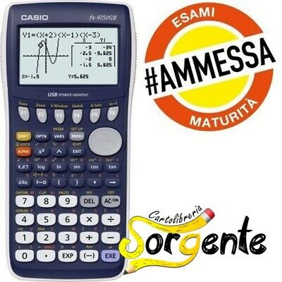 Calcolatrice Scientifica Grafica Casio Fx - 9750Gii (Ammessa Agli Esami)