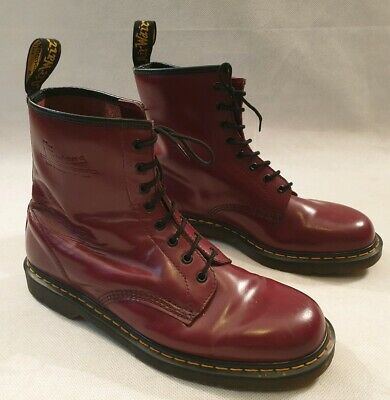 f38dada12fe Dr Martens Air Wair Cherry Red 8 Eyelet Leather Boots UK Size 12 EU 47 £