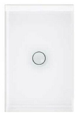 Clipsal GRID PLATE & COVER 1-Gang Touch PURE WHITE *Australian Brand