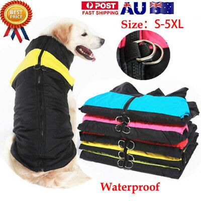 Waterproof Small/Large Pet Dog Clothes Winter Warm Padded Coat Vest Jacket S-5XL