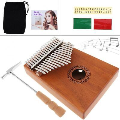 Elegant 17 Key Single Board Mahogany Thumb Piano Mbira Keyboard Instrument Wood