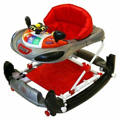 Racing Car Theme Walker Bebe Style Baby Height Adjustable Sound Light Walk Rock