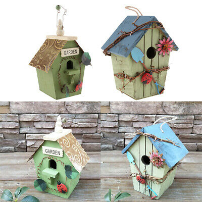 Nice 2 X Wooden Nesting Nest Bird Box Bird House Small Birds Blue Tit Robin Sparrow In Many Styles Home & Garden Yard, Garden & Outdoor Living