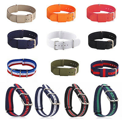 Military Army Strap Nylon Fabric Watch Band Stainless Steel Buckle 182022mm