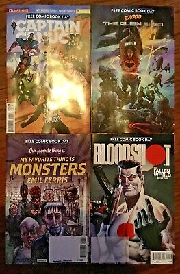 4 2019 free comic book day issues FCBD Captain Canuck Bloodshot Monsters Zagor
