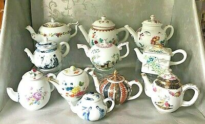 Victoria & Albert Museum Teapot Collection Recreations by Franklin Mint 1980's