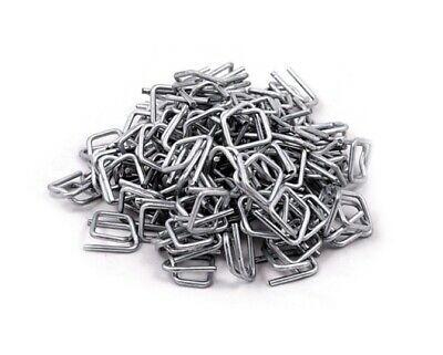 19mm GALVANISED BANDING PALLET STRAPPING METAL CLIPS BUCKLES BOX X 1000